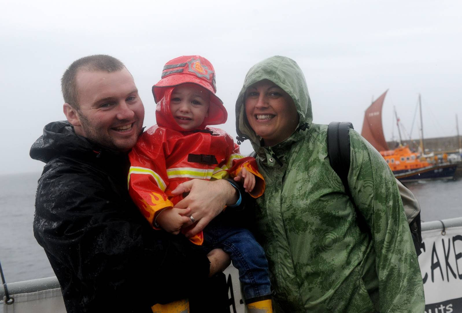 Aidan and Beverley Lydon with Robert.