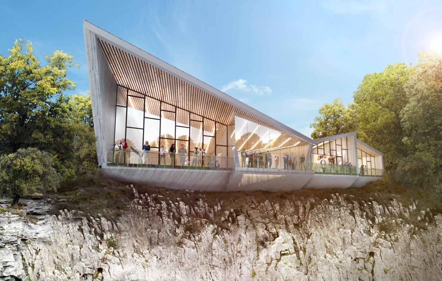 Artist impression of the planned centre at Rubislaw Quarry.