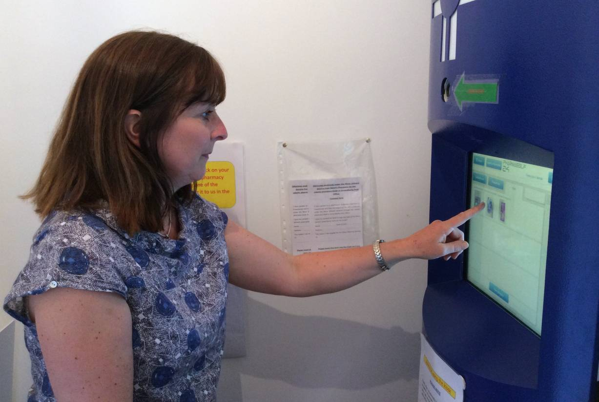 Prescribed medicine would be dispensed to users by the robotic pharmacy kiosks.