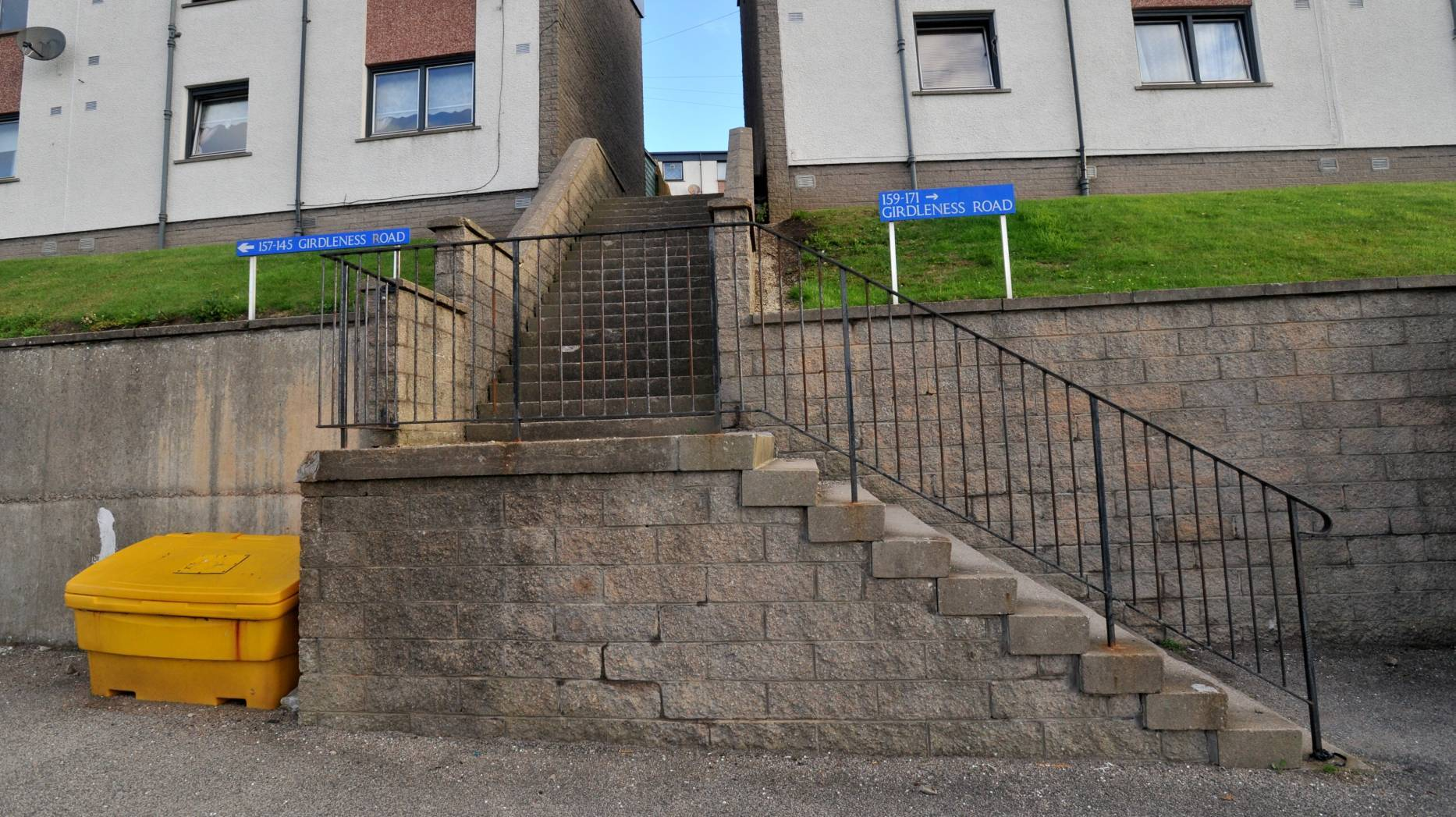 The pensioner had money taken after he fell on steps between Farquhar Road and Girdleness Road in Torry.