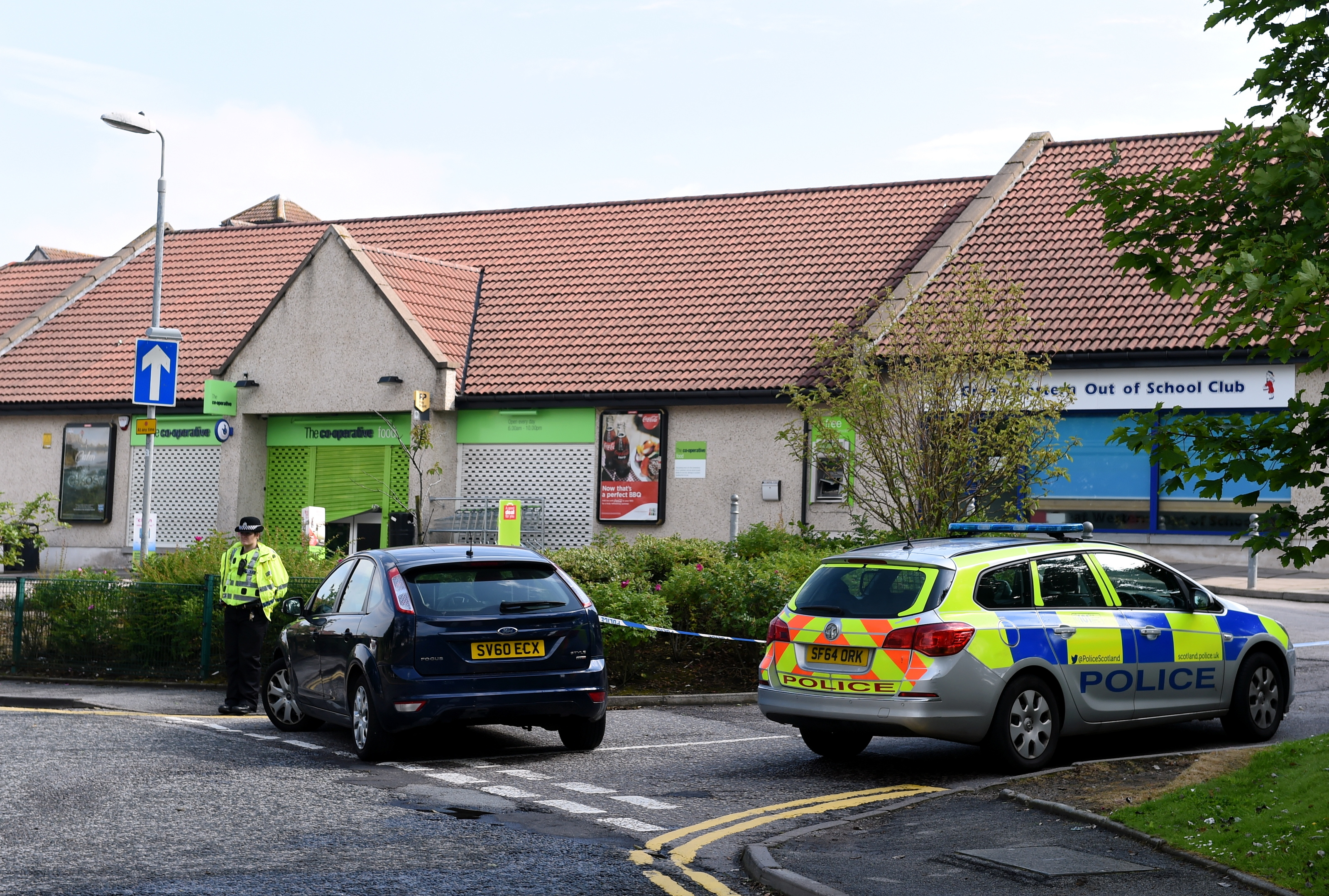 More than £10,000 was stolen in a cash machine raid in Kingswells.