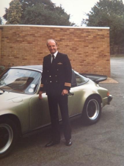 Derek Buck in his uniform, around 1978.