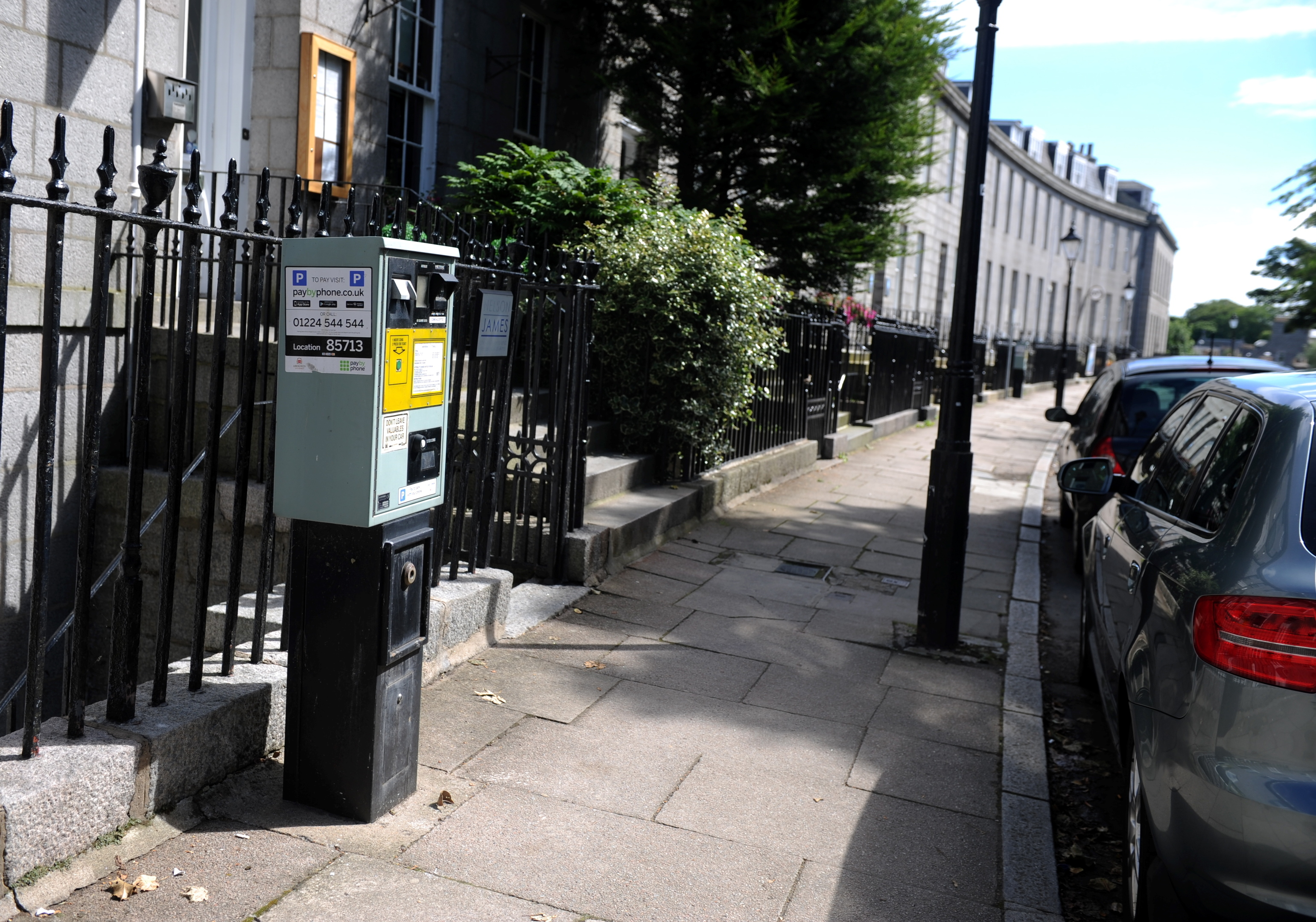 A parking ticket pay and display  machine on  Bon Accord Crescent.