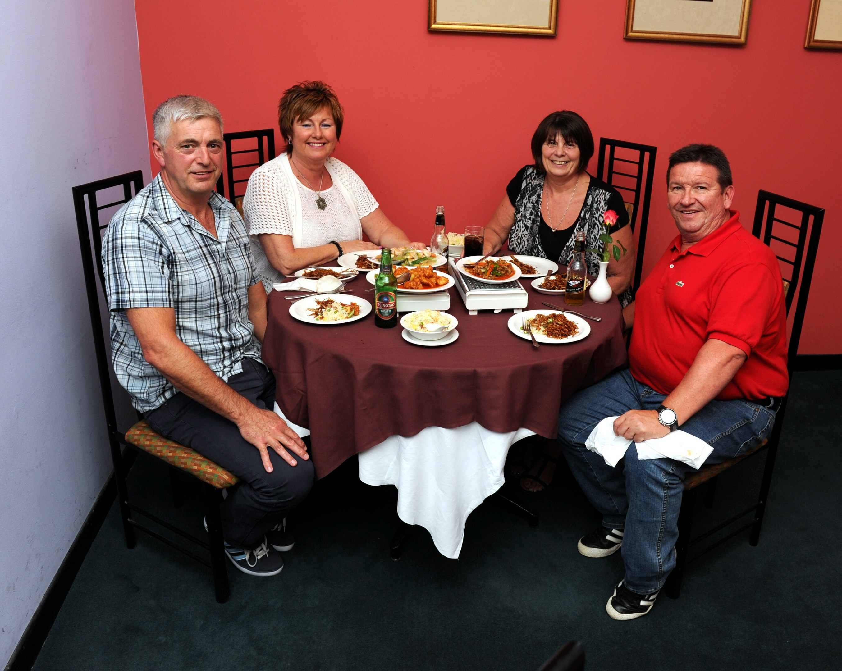 From left, William Hector, Linda Hector, Linda Fee and John Fee at the Royal China in Peterculter.