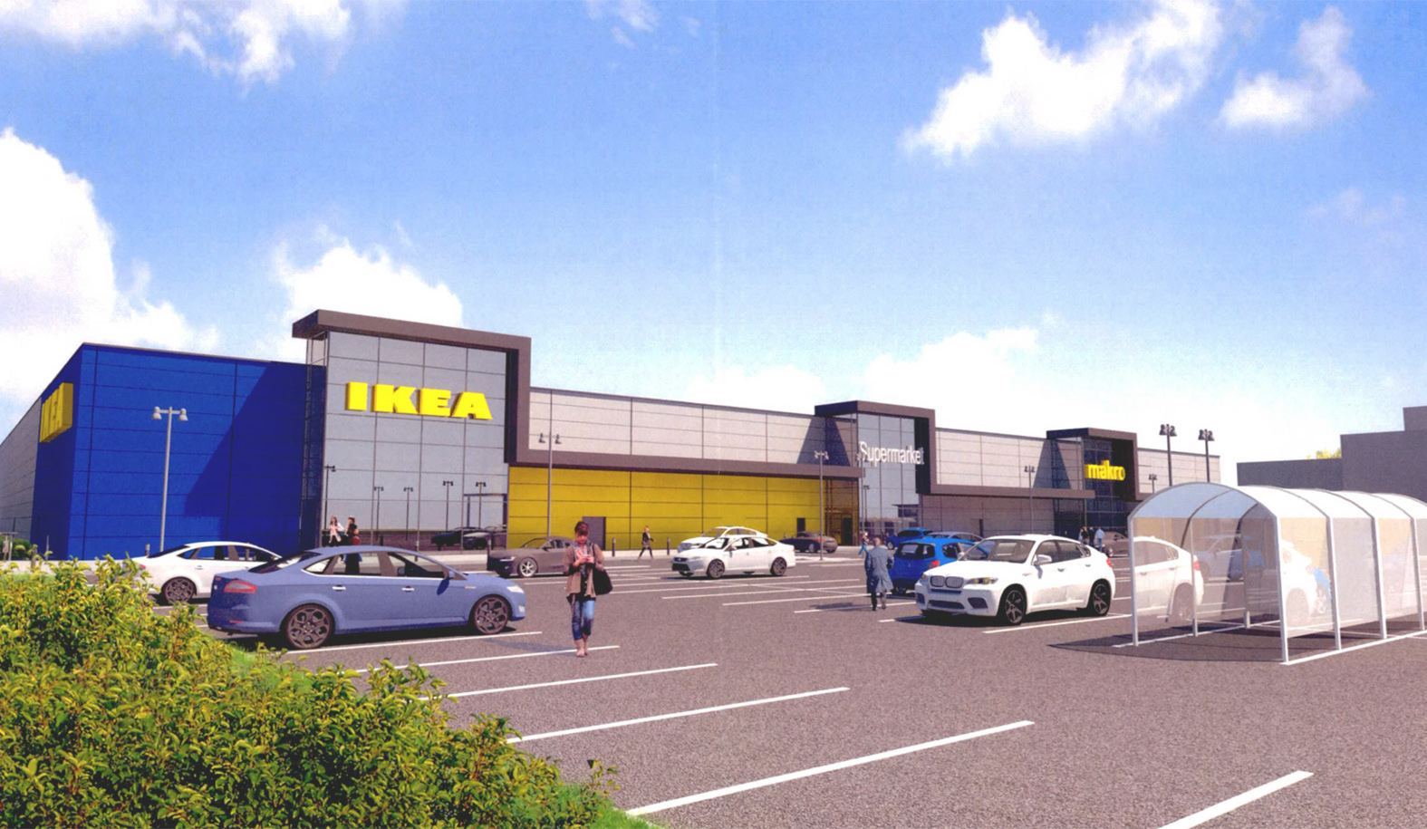 PLANS: An artist's impression of how IKEA will look at the Nigg site.