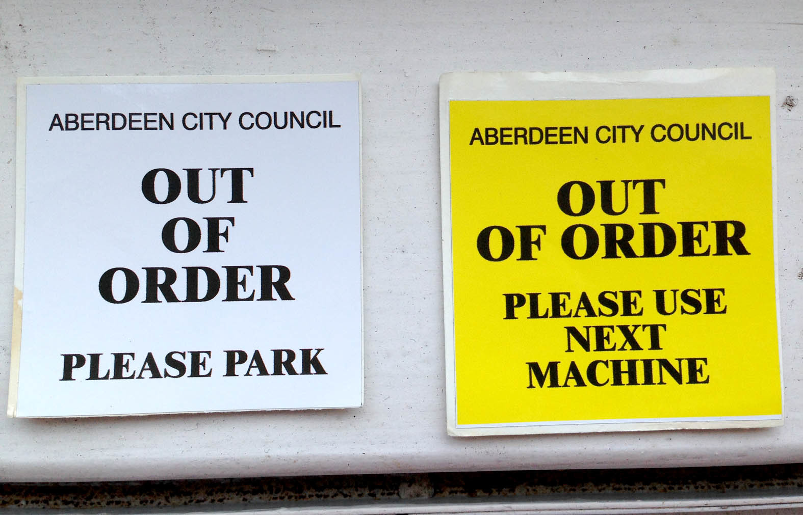 A union boss said  new signs on parking machines in the city was causing 'considerable confusion and apprehension'.