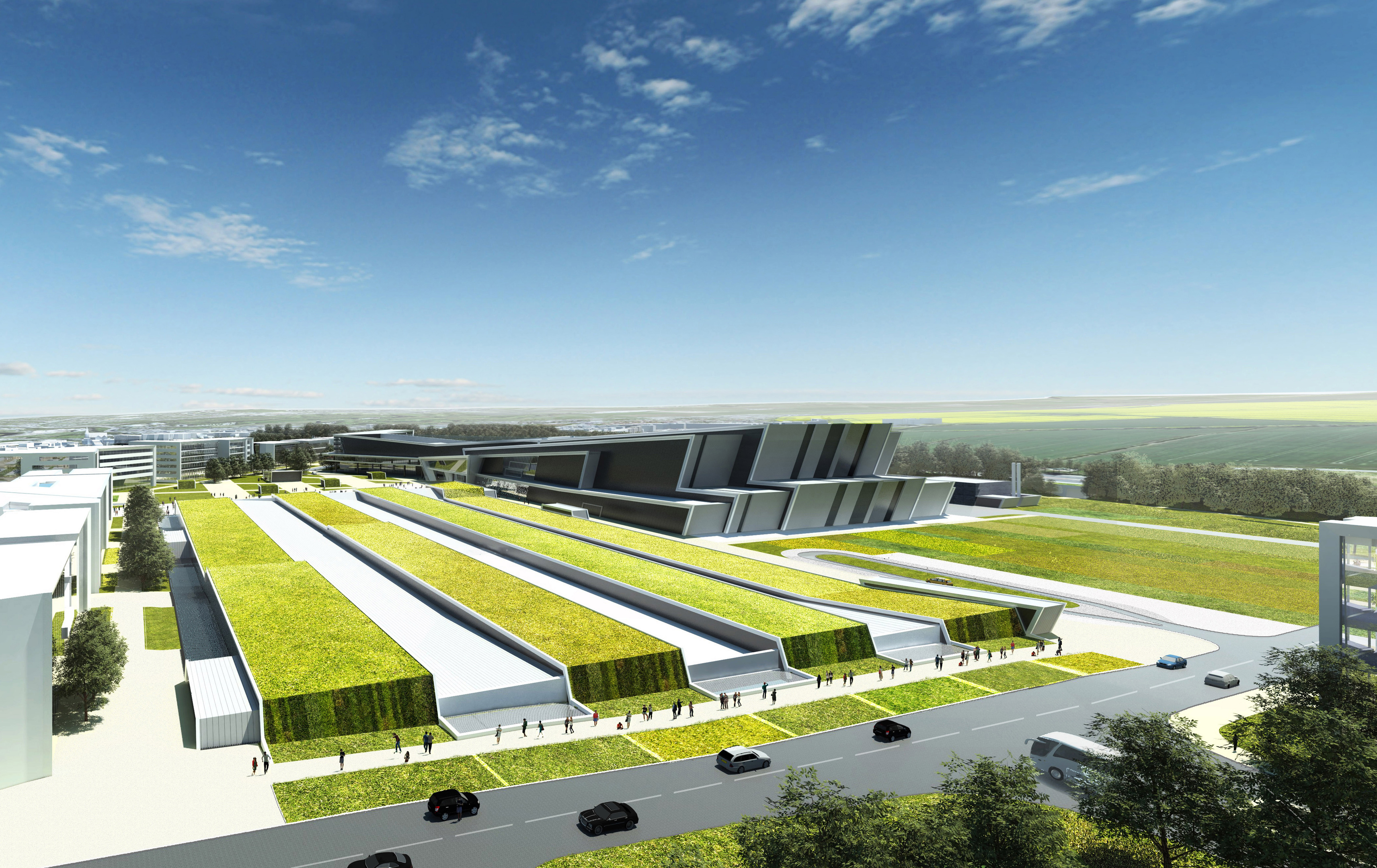 New draft proposal drawings of how the AECC could look.