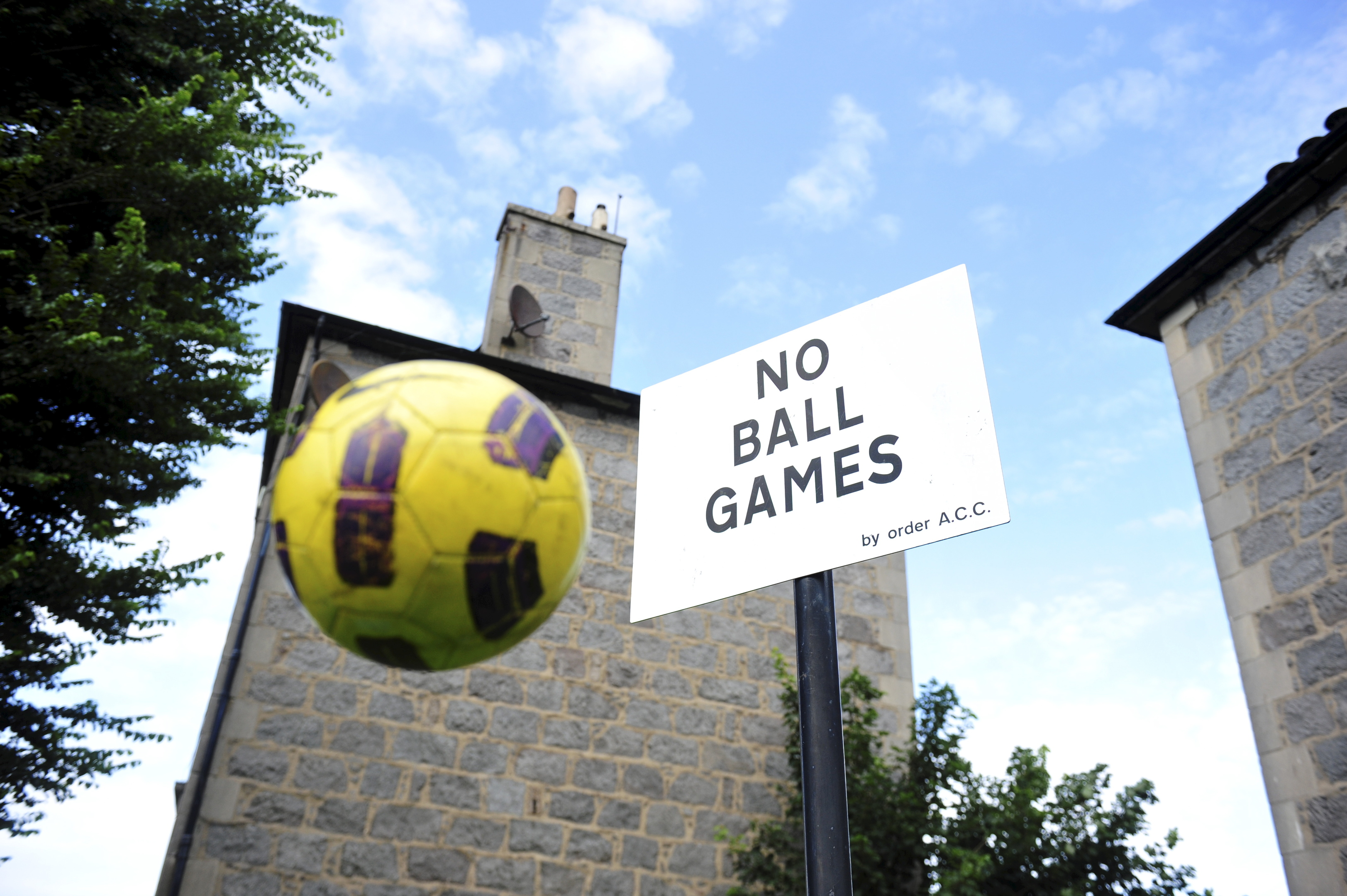 It's understood the signs  – which will be removed by UK National Play Day on  August 3 next year  – had no legal status.