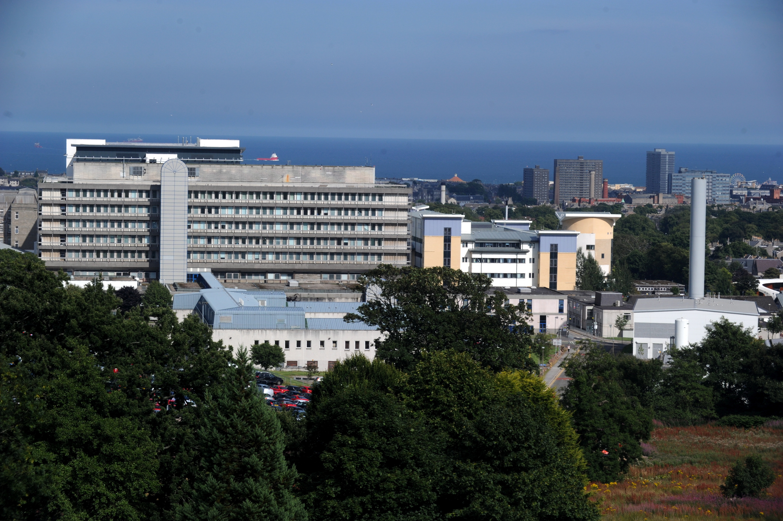 The man was taken to Aberdeen Royal Infirmary