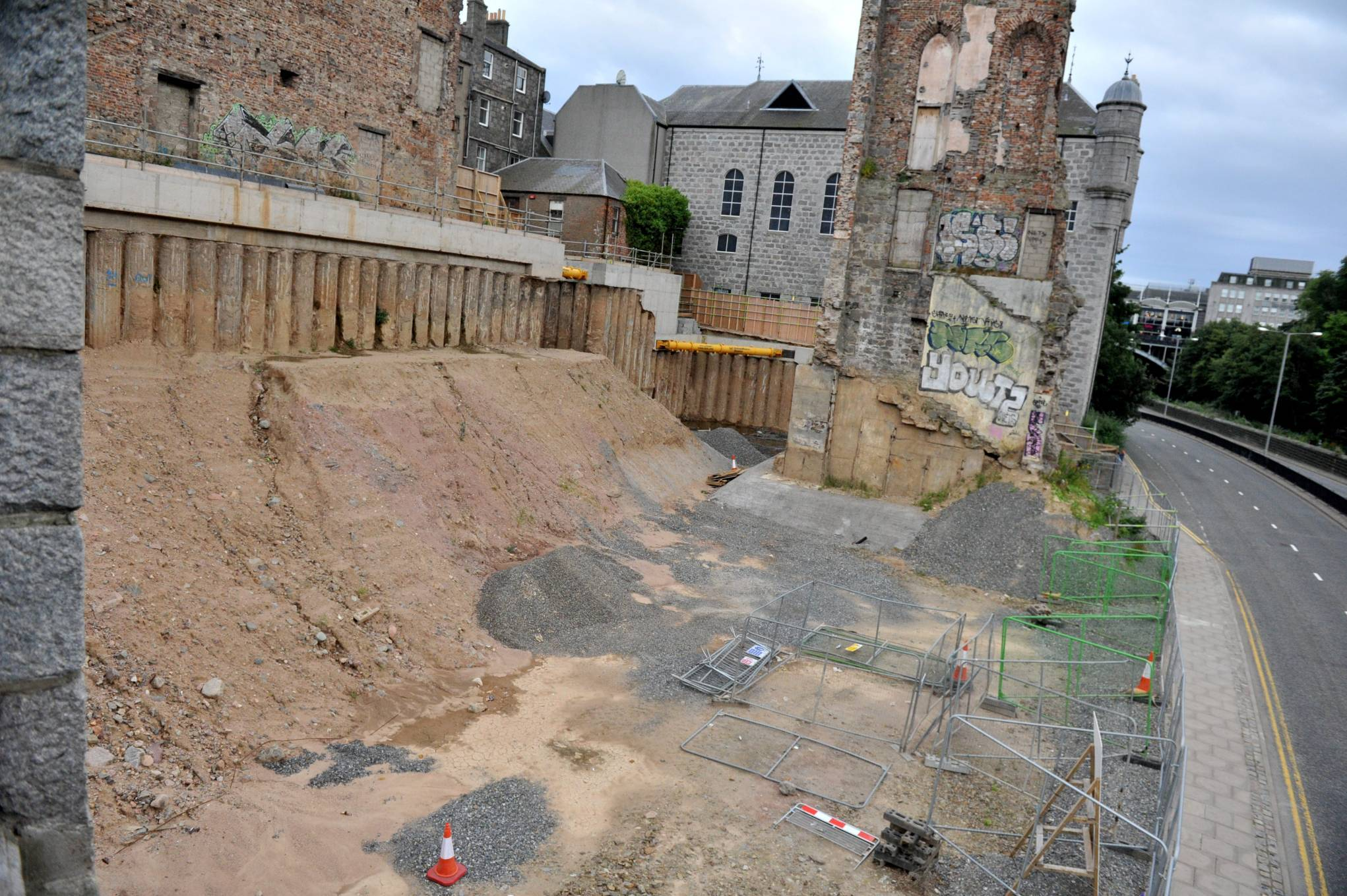 The Triple Kirks' site has already been cleared ahead of work on the new building.