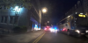 Police chase the bus along Rose Street in Aberdeen. Picture from YouTube/Baz Slater