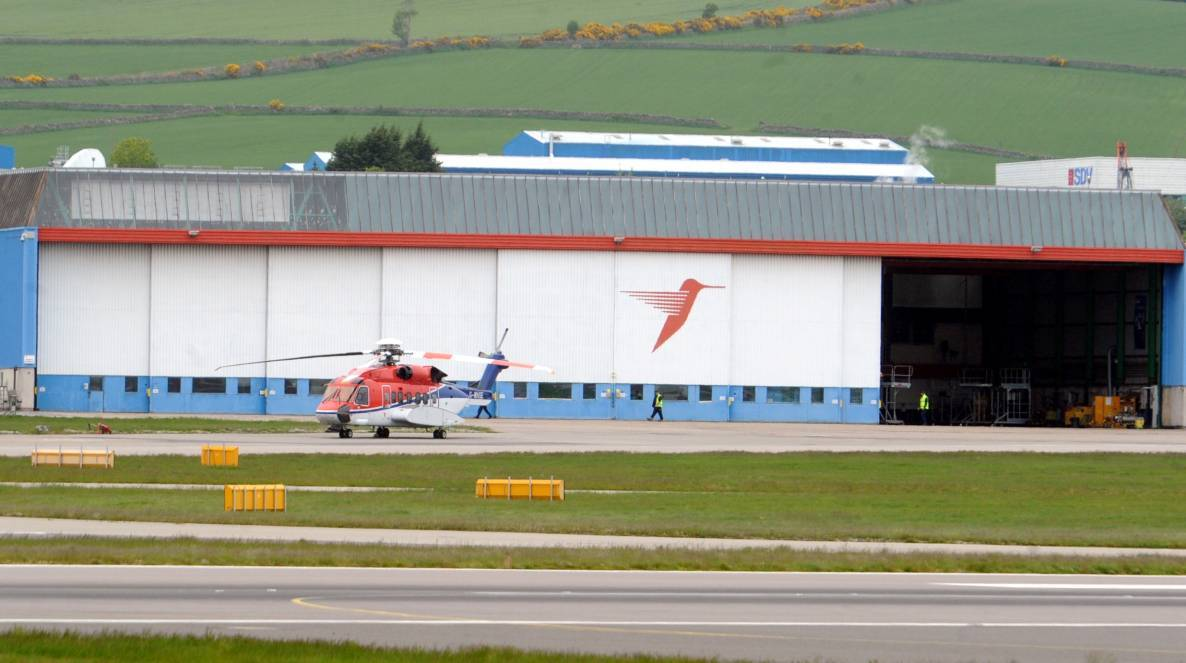 CHC Helicopter's base at Aberdeen International Airport