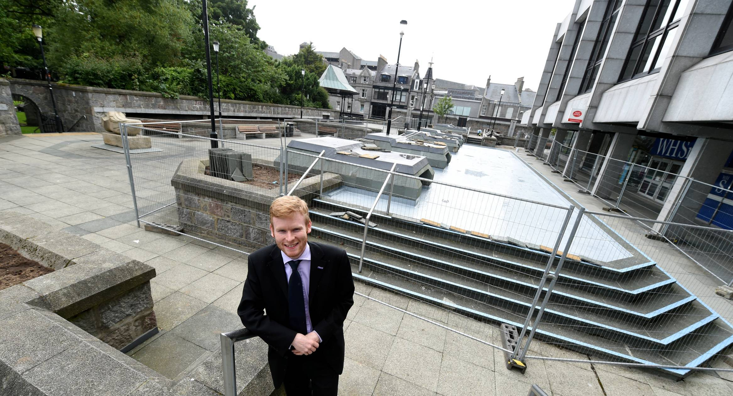 Councillor Ross Grant, project manager for Aberdeen Inspired, on the upper deck of the St Nicholas Centre in Aberdeen