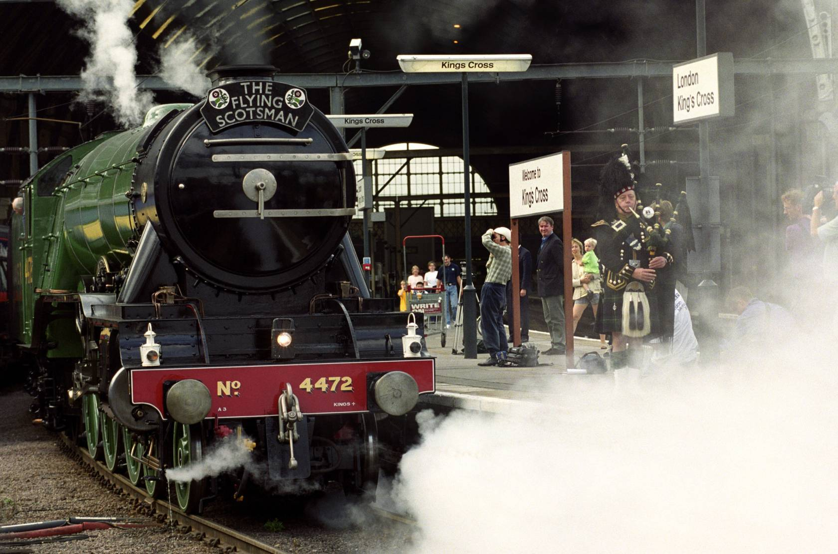 The Flying Scotsman, pictured in 1999 before its restoration.