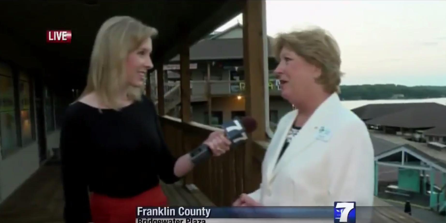 Alison Parker interviews a woman seconds before shots rang out