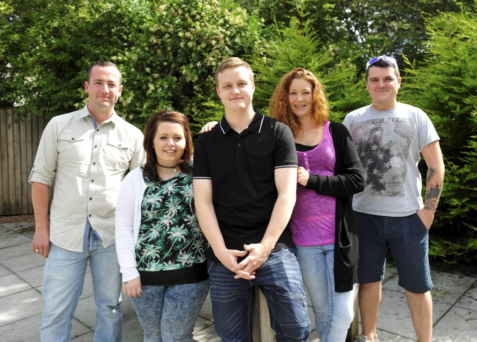 Pictured from left are Jonathan Radley, Emma Will, Brandon Reid, Jennifer Reid and Charlie Duthie.