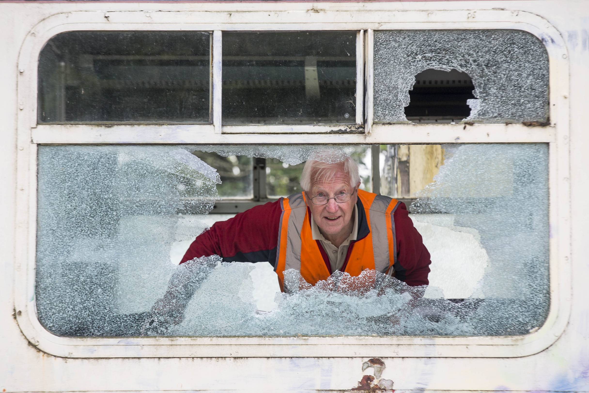Around £10,000 of damage has been caused to a carriage at the Deeside Railway.