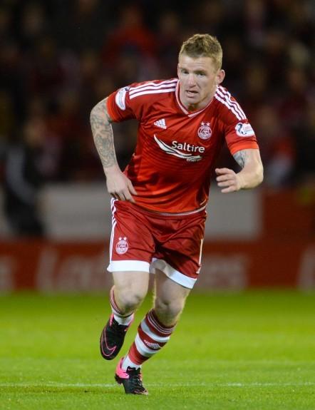 Aberdeen's Jonny Hayes in action