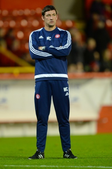 Hamilton player/manager Martin Canning ahead of kick off