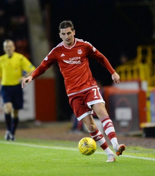 Aberdeen's Kenny McLean dribbles in possession