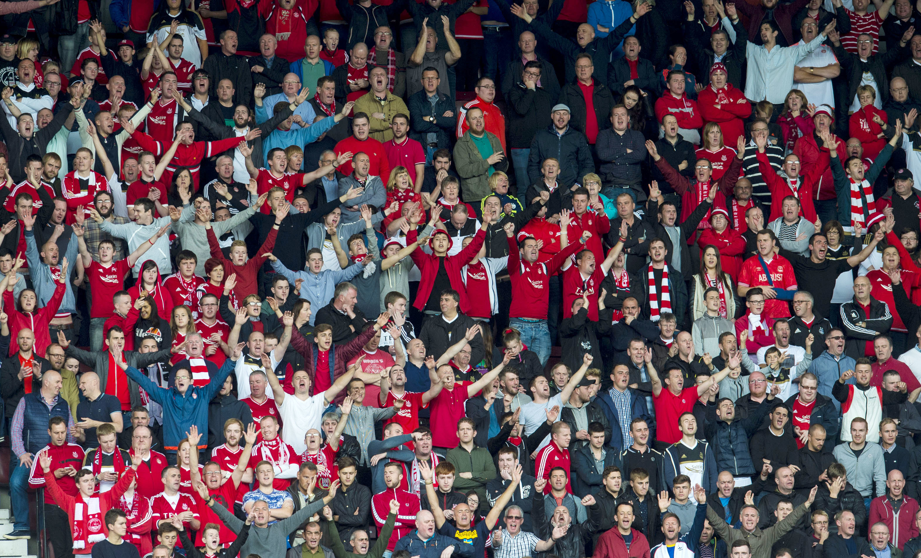 Aberdeen fans.