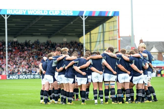 Scotland Rugby players prepare for Japan.