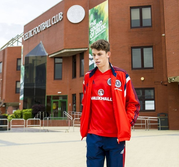 Ryan Christie leaves Celtic Park after holding talks with the club.