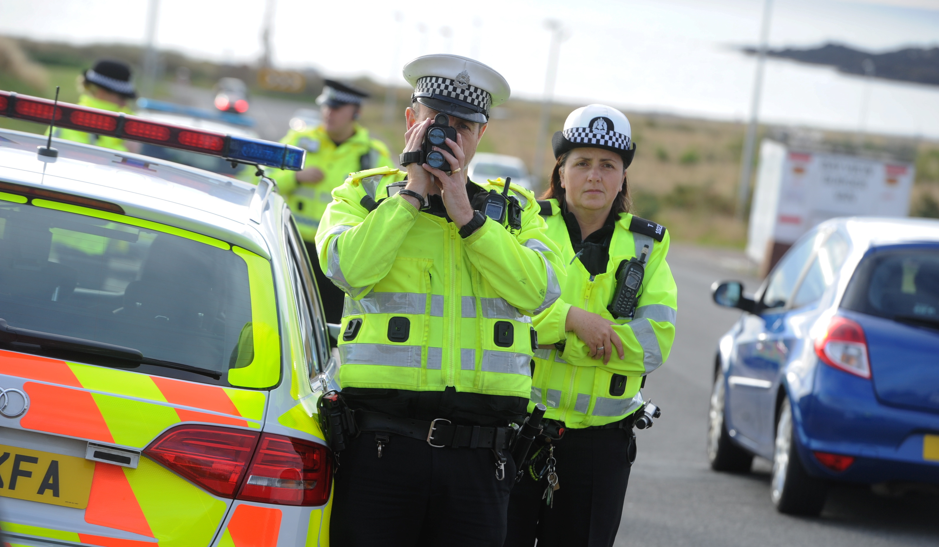 Pc Stuart Albin and Pc Coleen Dick tackle motoring offences in  Torry.