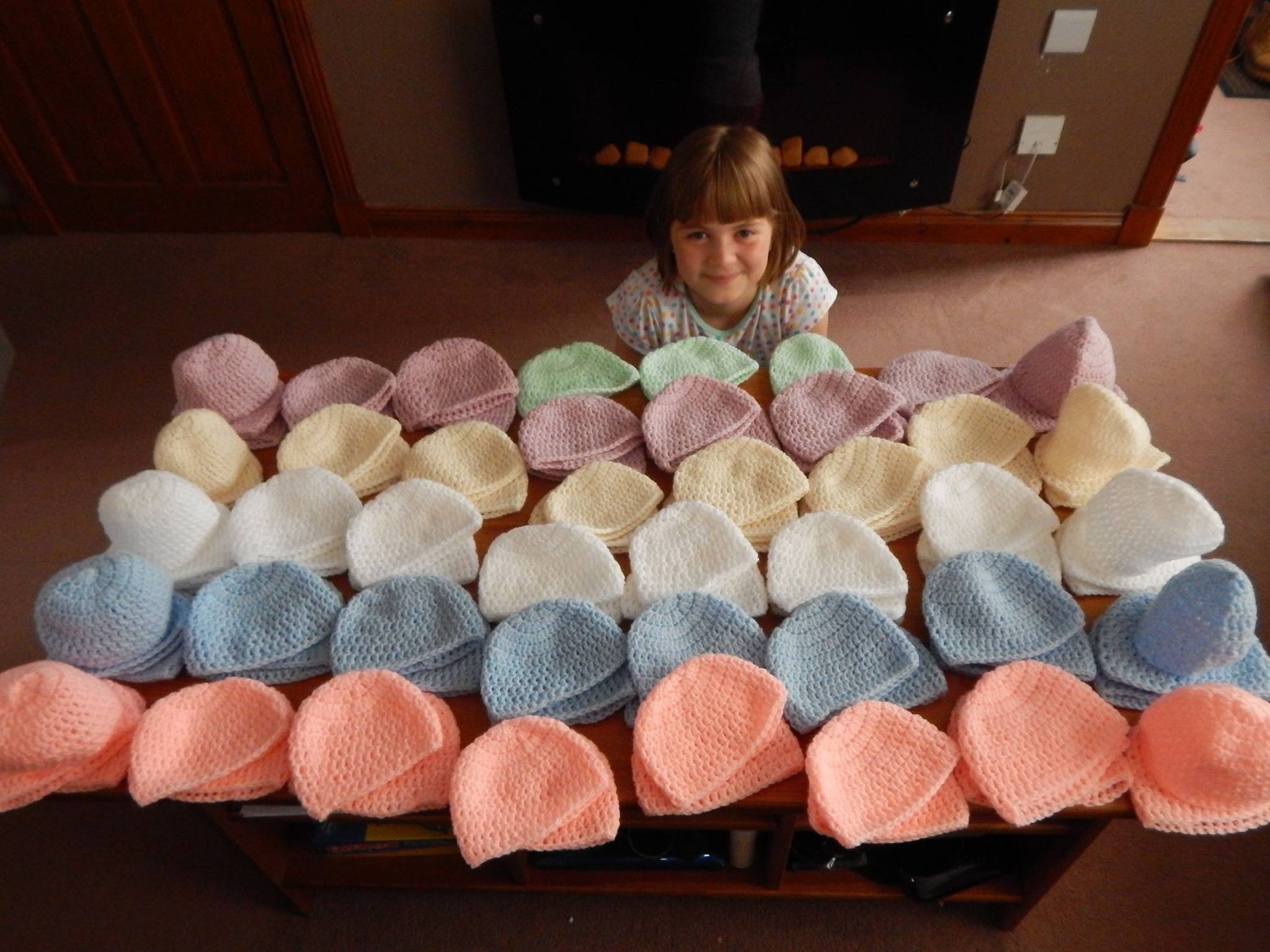Chloe Milne made 100 hats.