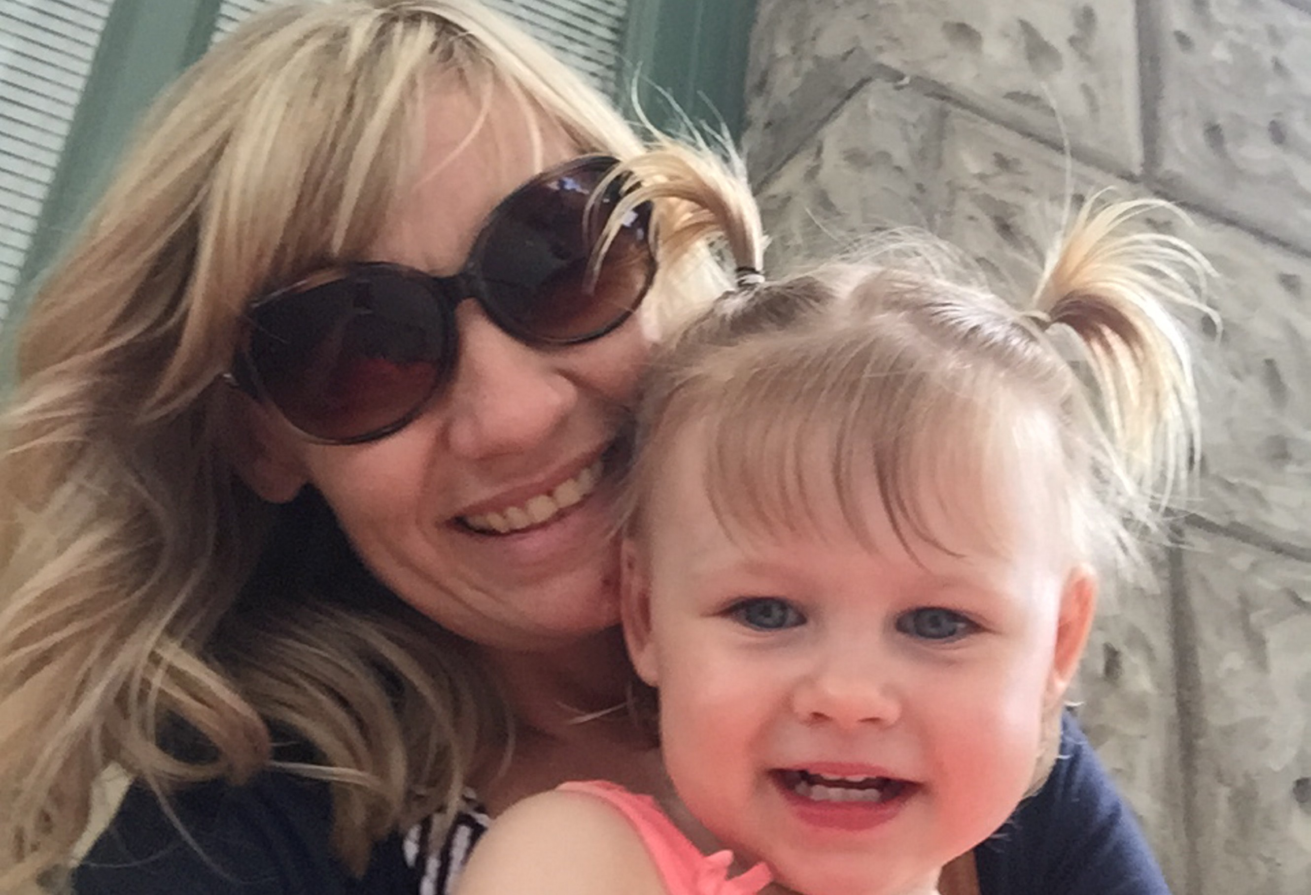 Lesley McGregor and daughter Caitlyn, 2.