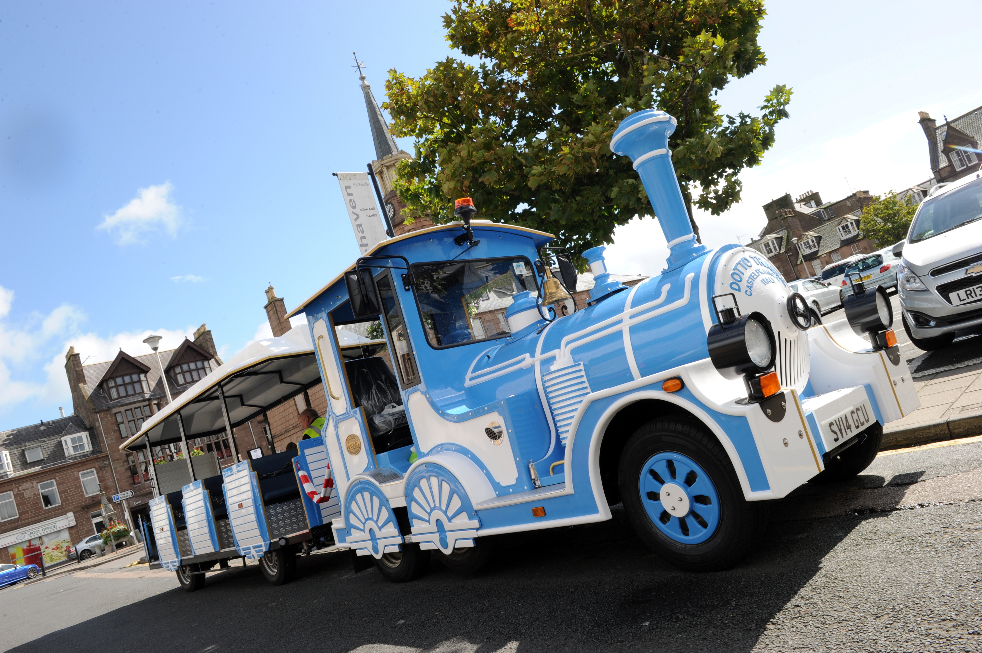 Stonehaven's land train has proved a great hit with visitors, and has carried 5,000 people this summer.