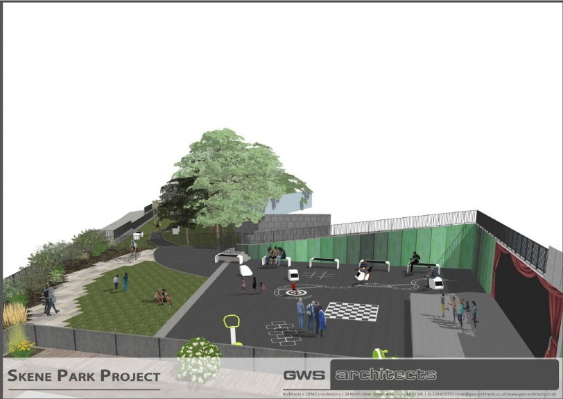 hi-tech: An  impression of how the playpark could look.   pictures by gws architects