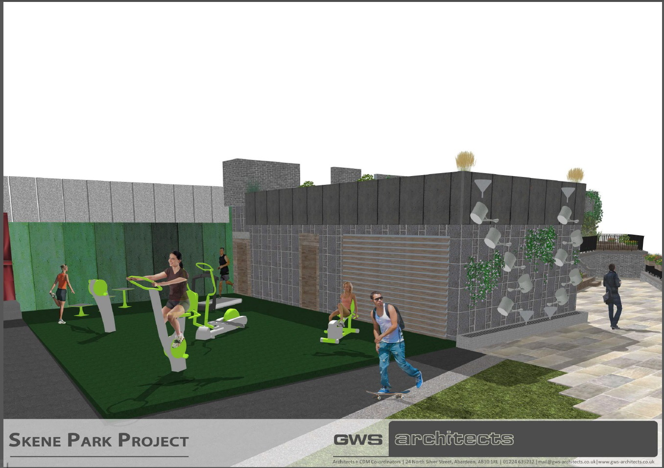 An  impression of how the playpark could look.   pictures by gws architects