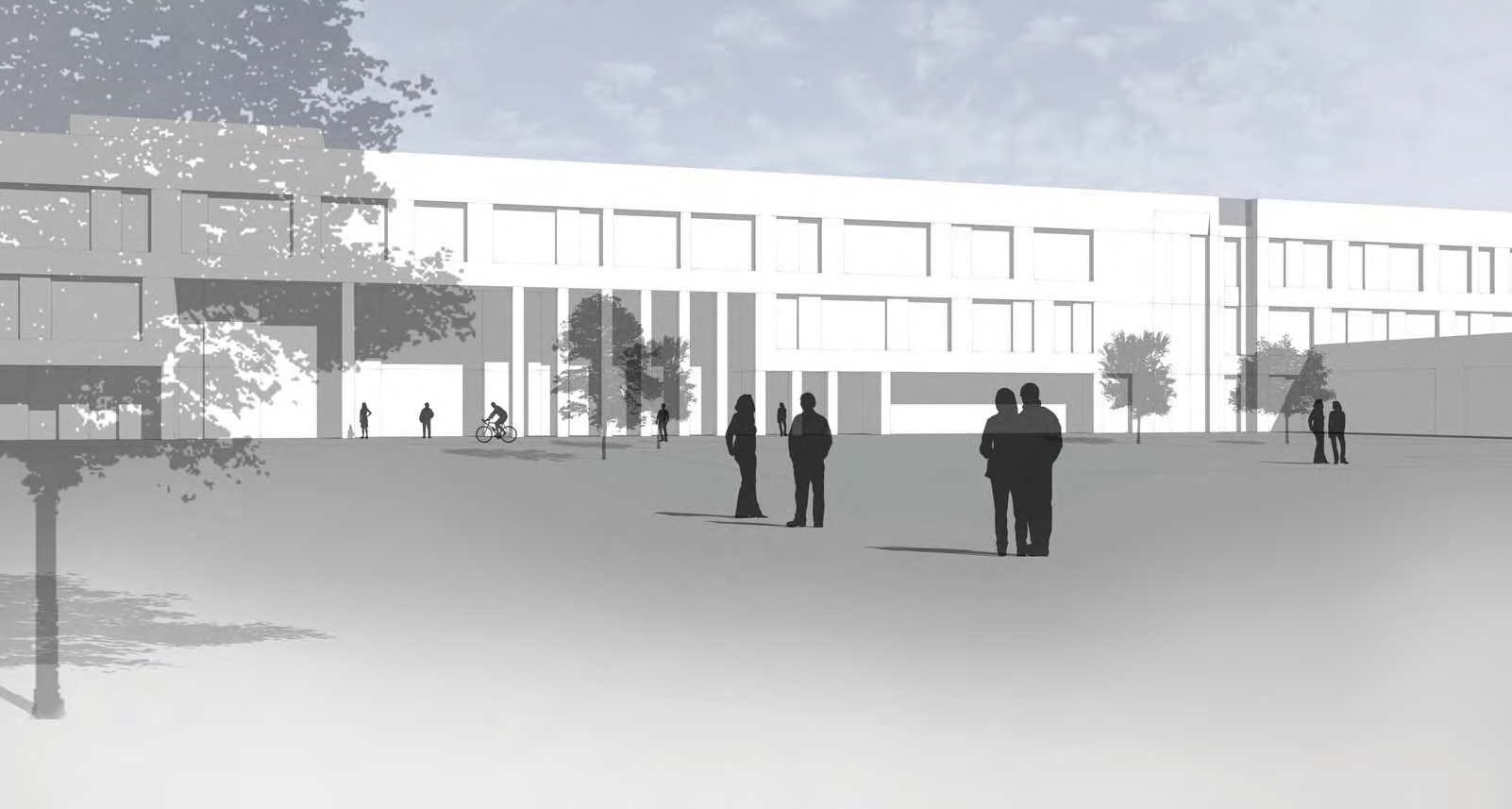 An artist's impression of how  the South of Aberdeen High School could look.