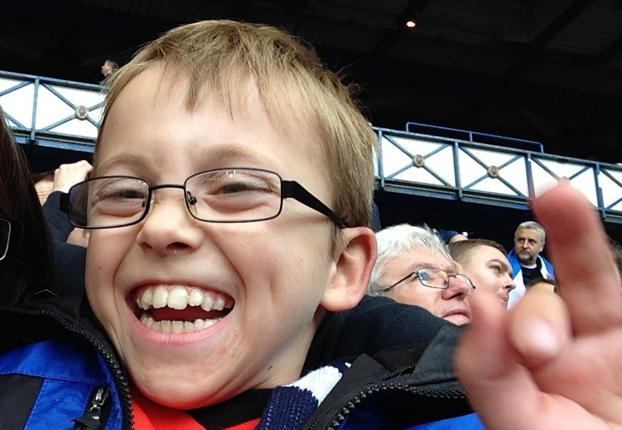 Finlay at his first Scotland game in October last year.