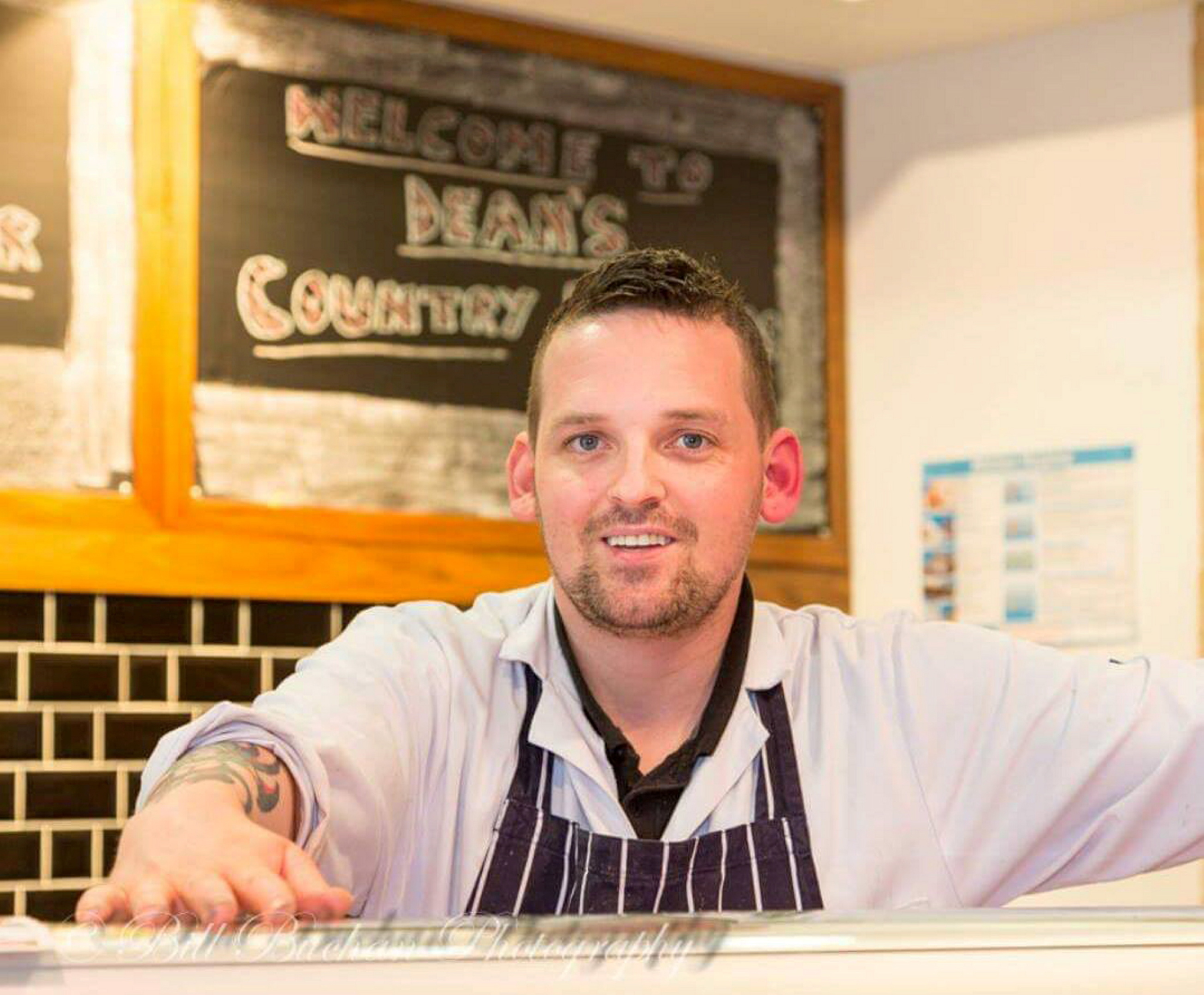 HELP:  The refugees' plight has struck a chord with butcher Dean Morrison.