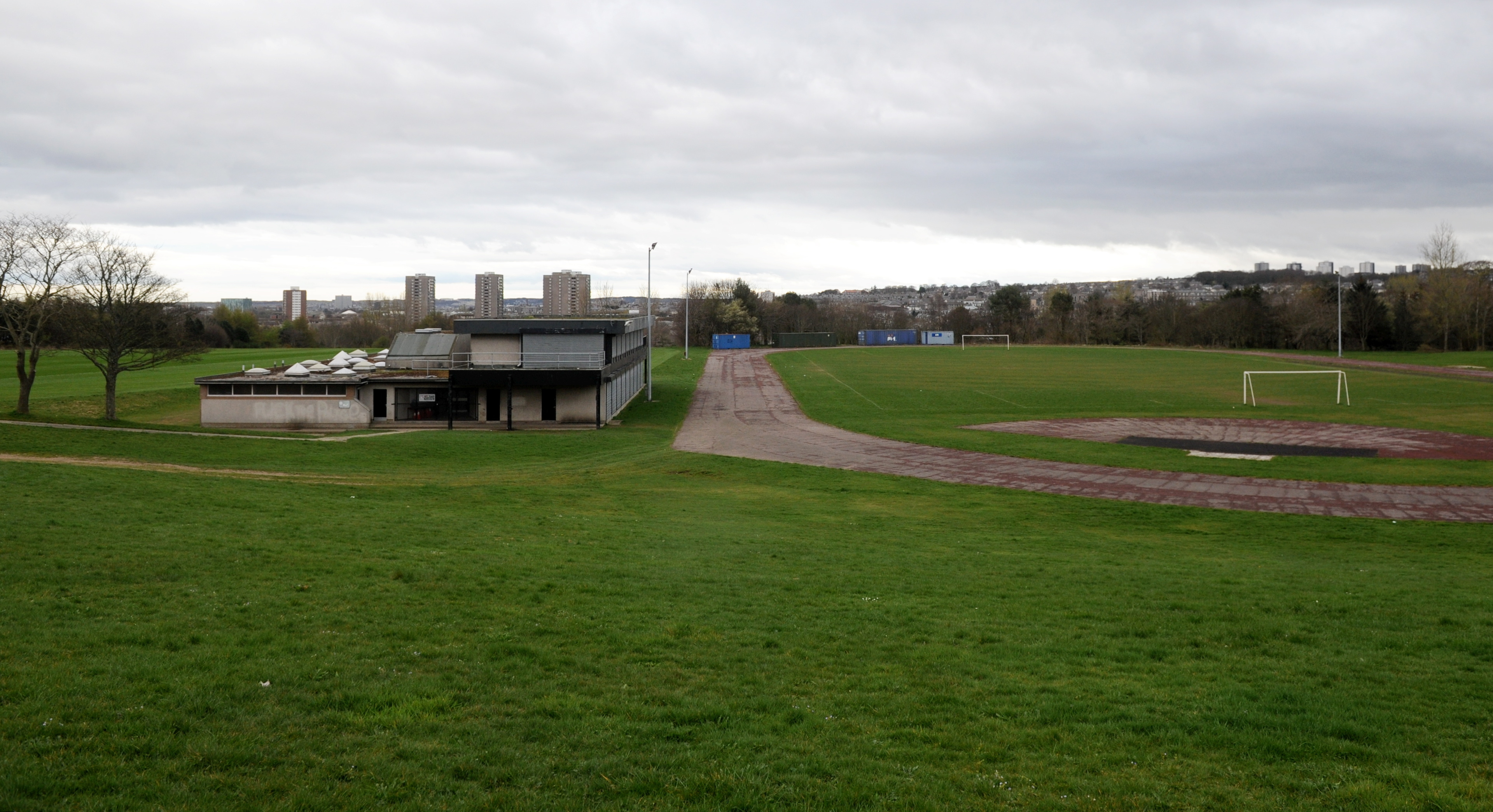 The football pitches at Balgownie.