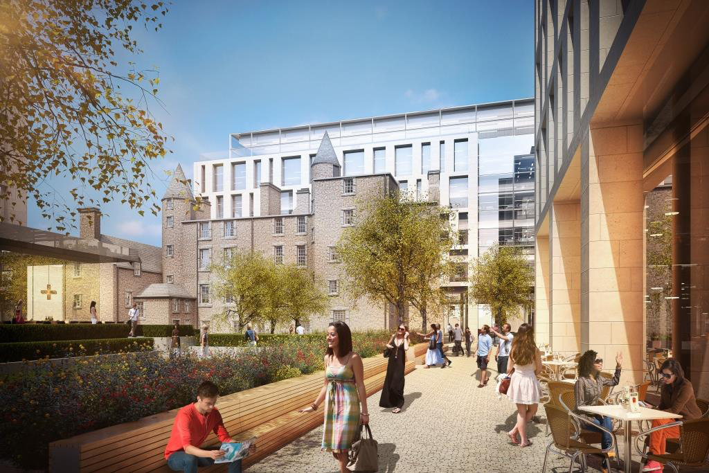 The scheme is to  include a hotel as well as retail and office space.