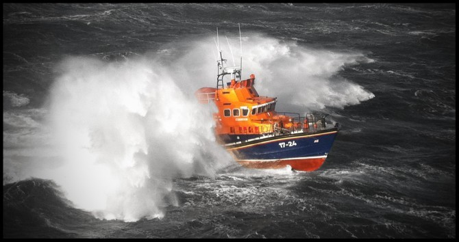 The Aberdeen RNLI all-weather lifeboat Bon Accord.
