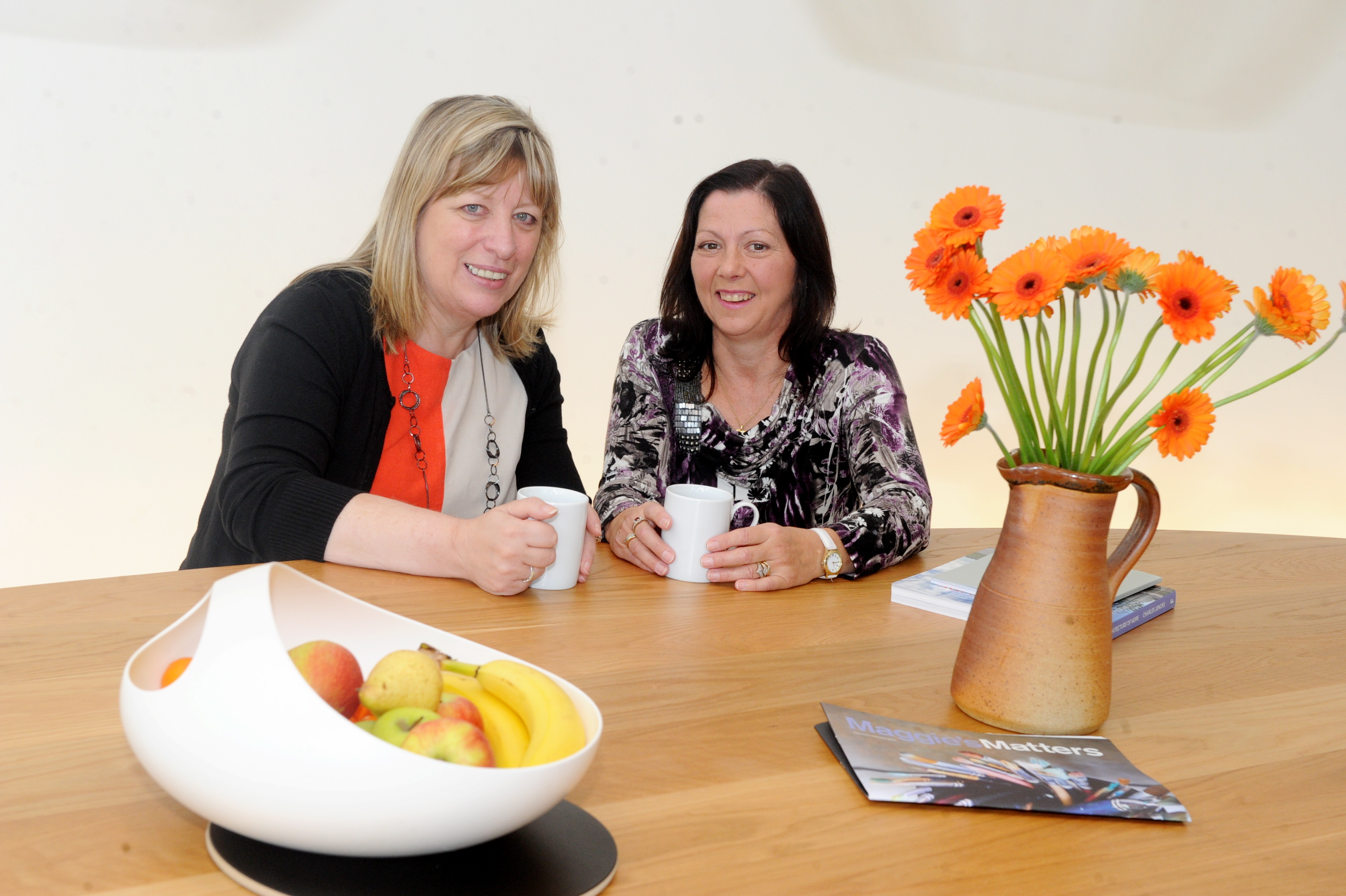 Maggie's Centre head Susan Sutherland, left, and service user Heather Slater.