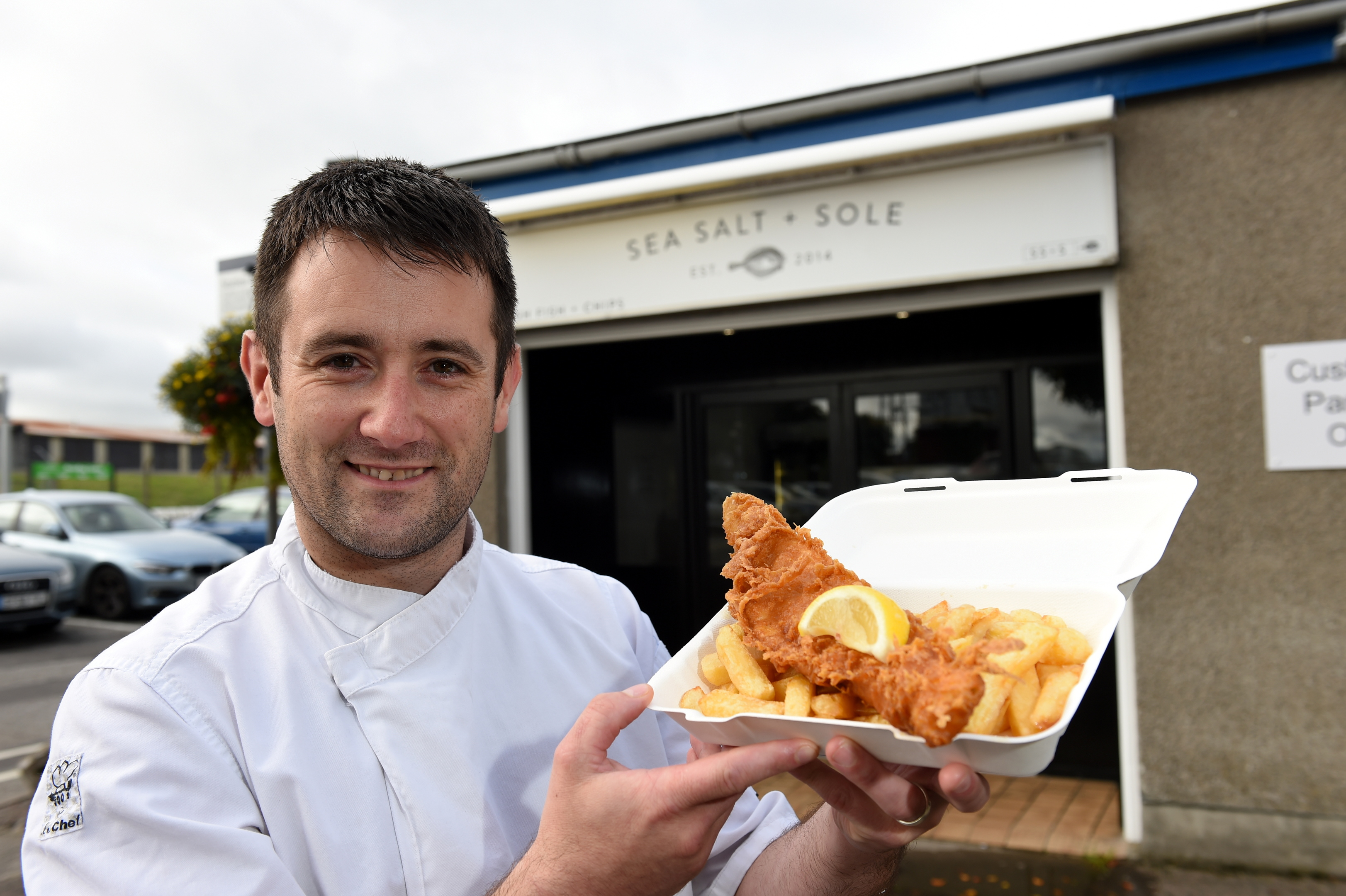 Rikki Pirie opened Sea Salt and Sole fish and chip shop in Dyce in 2014.