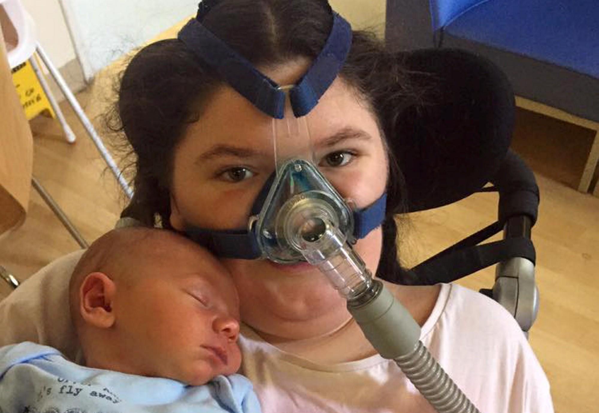 Elysha with her nephew, baby Elijah.