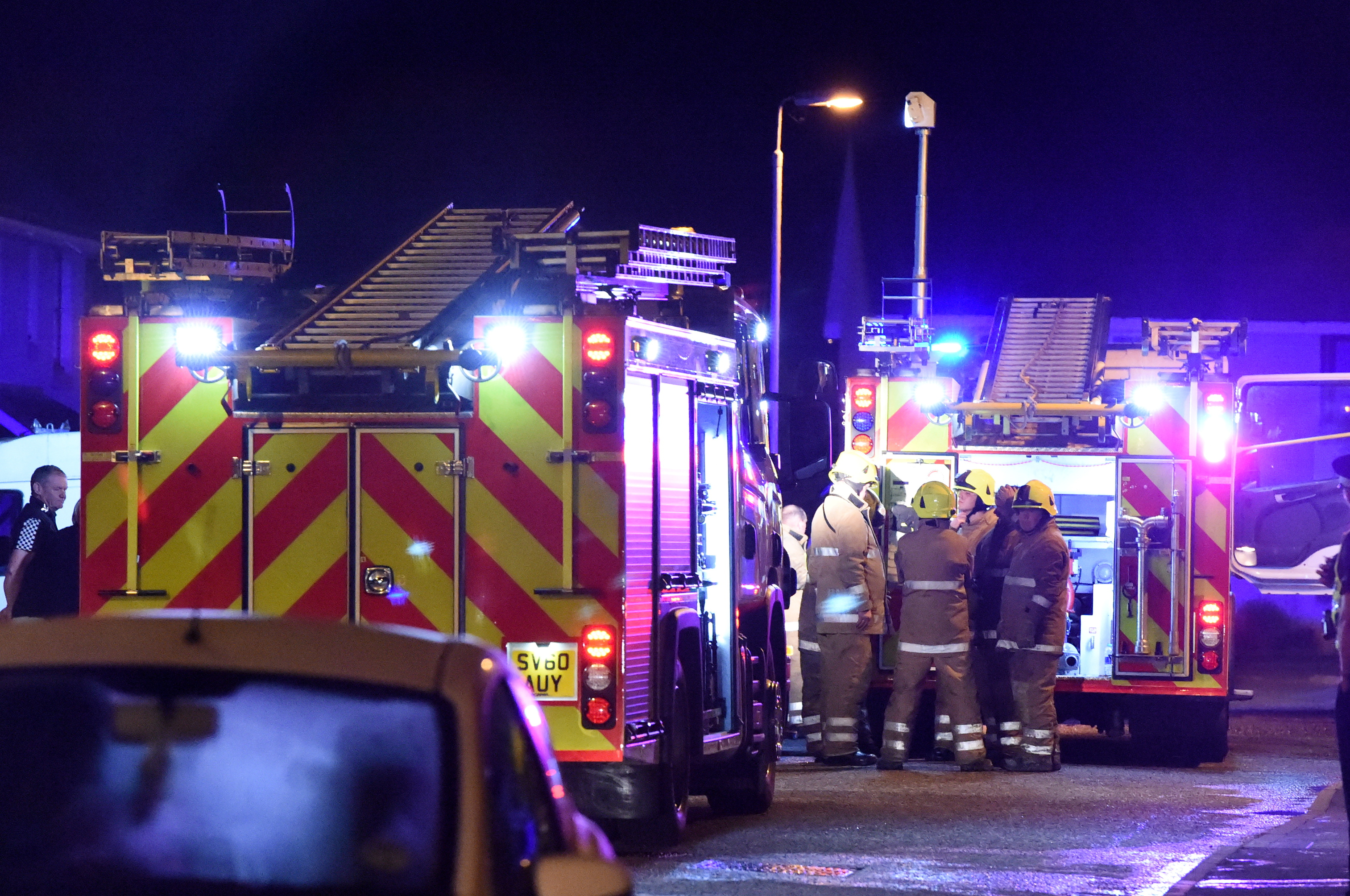Crews from fire stations in Stonehaven and Aberdeen were called to the blaze on the town's Redcloak Crescent.