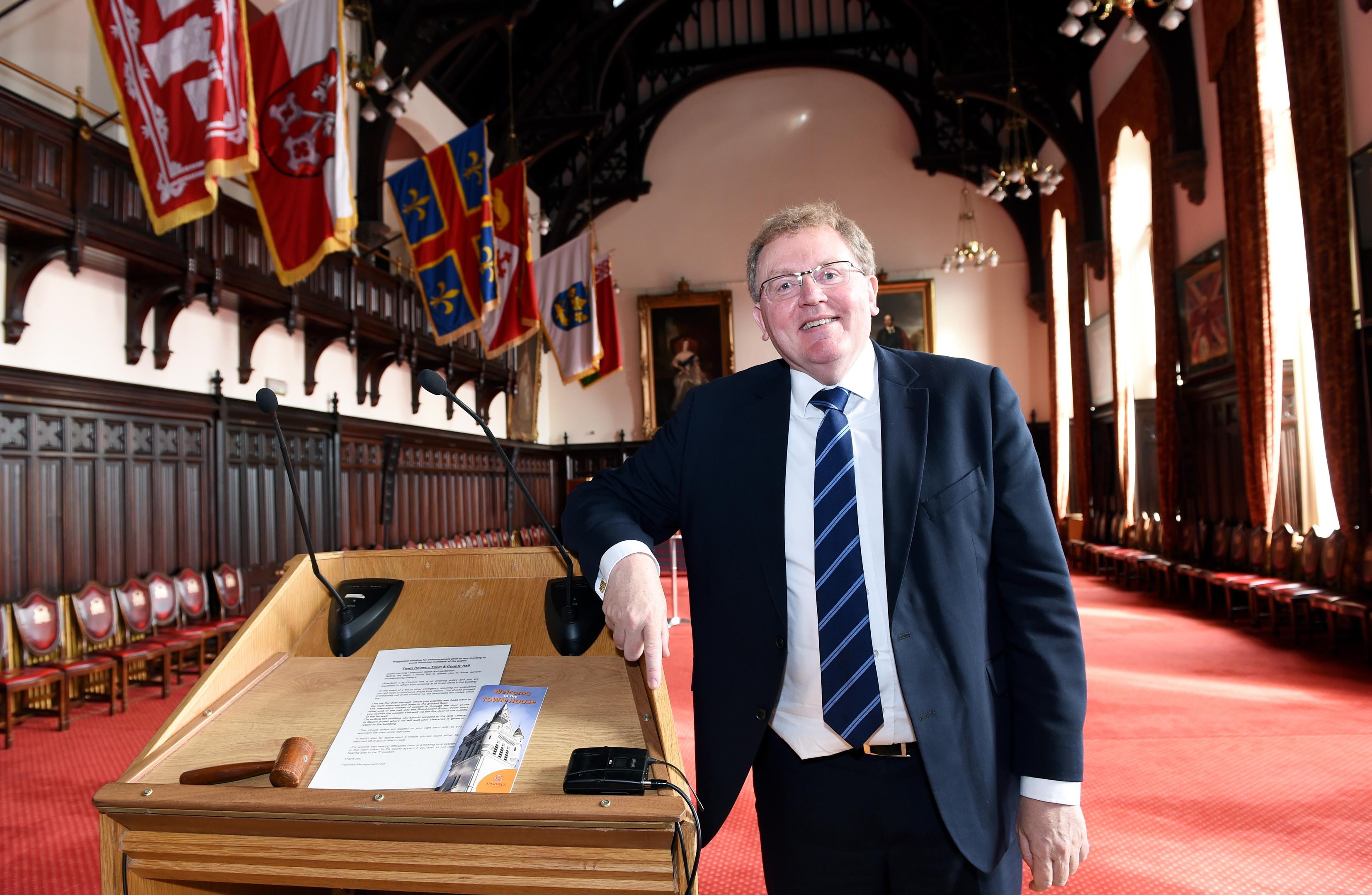 Scottish Secretary David Mundell at Aberdeen Town House.