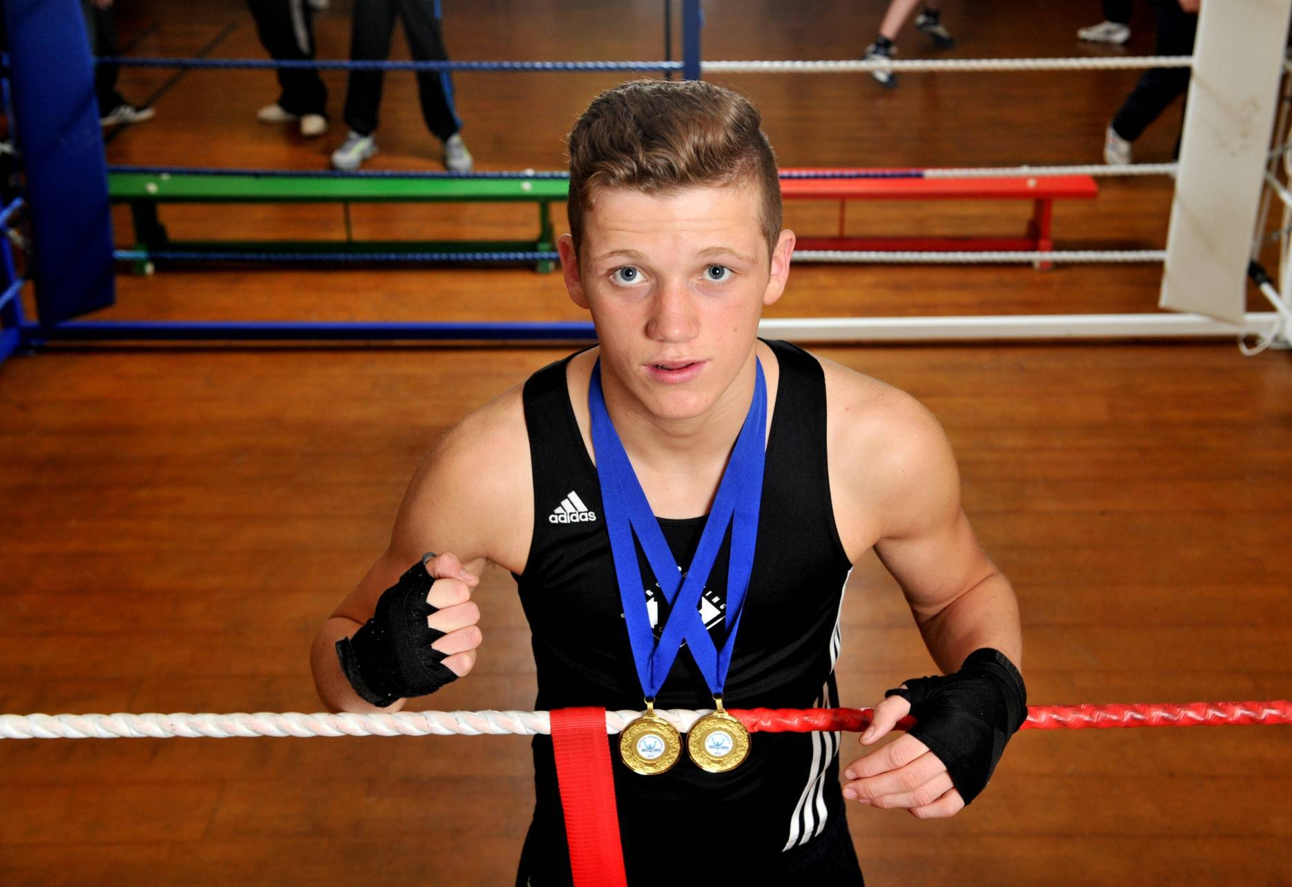 John Docherty won a gold medal at the Commonwealth Youth Games.