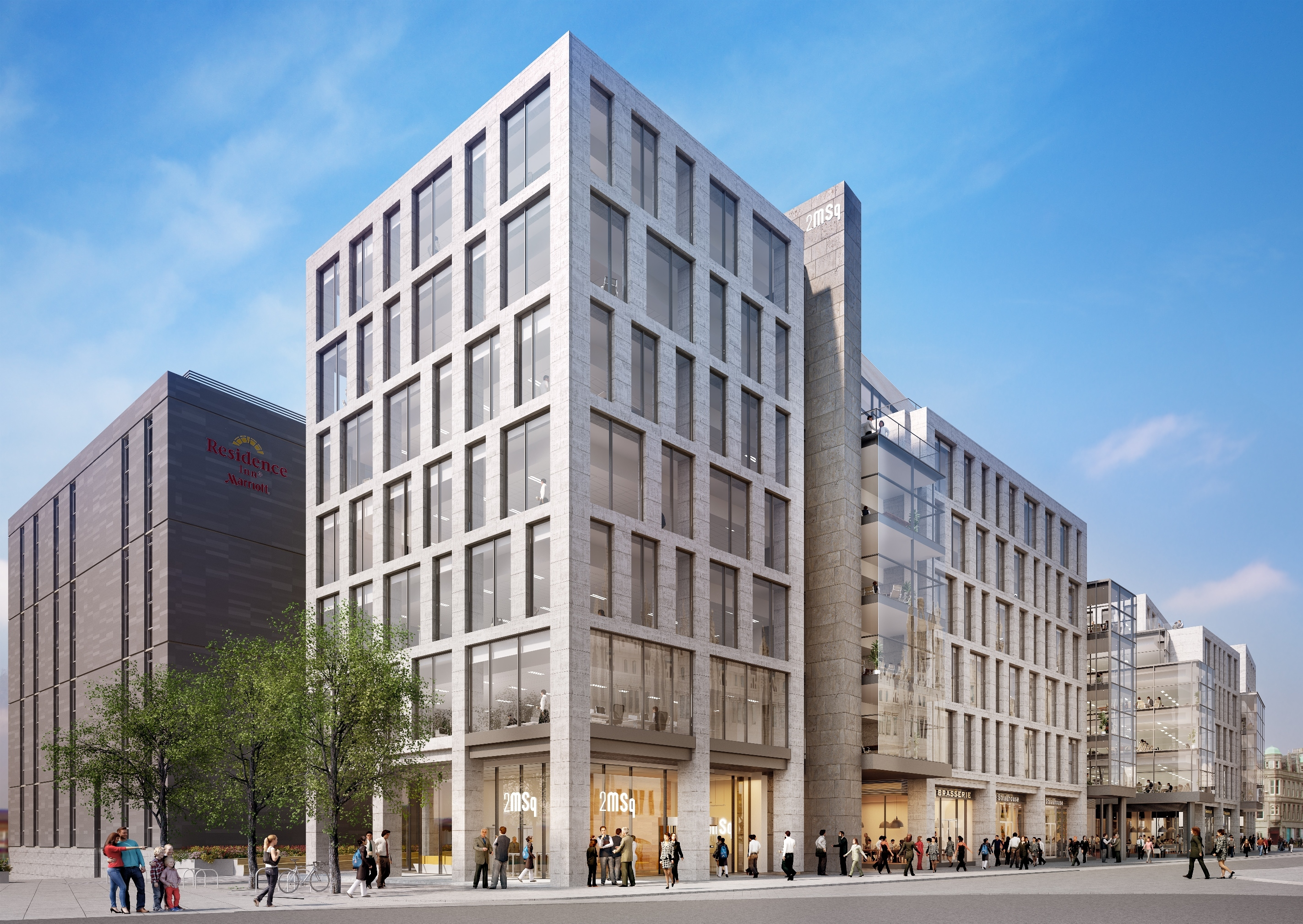 A new artist impression of Muse's Marischal Square development.