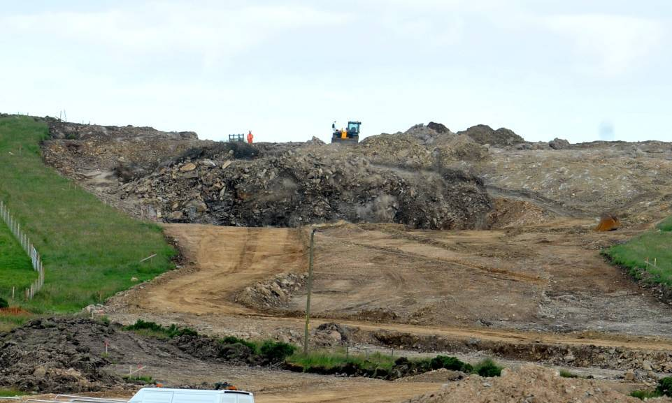 Blasting has already been used to remove large amounts of rock near Cookney.