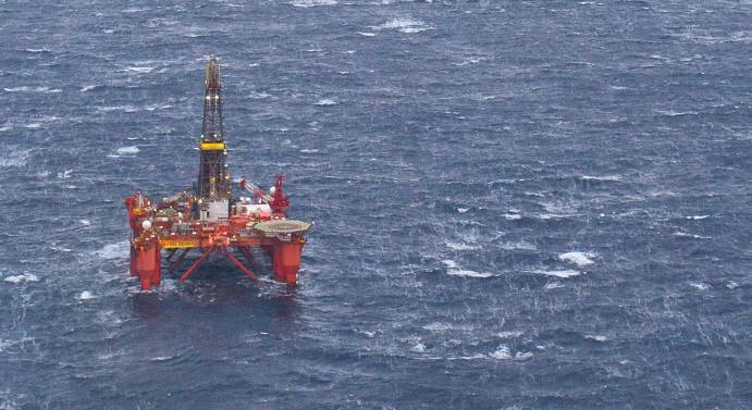Byford Dolphin semi-submersible drilling rig located east of the Shetland Islands