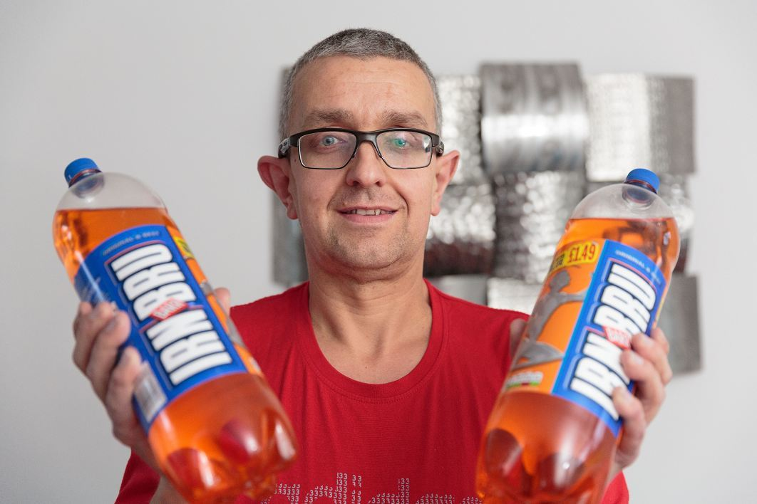 Steve Hill weighed 27 stone before he ditched Irn Bru.