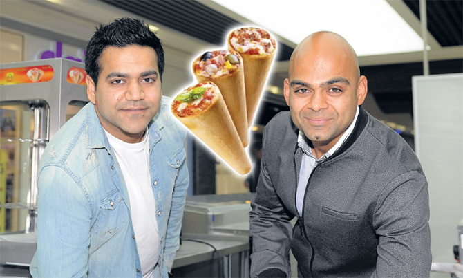 Tarun Dureja and Jay Bhalani are opening Mexicone, a fast food kiosk.